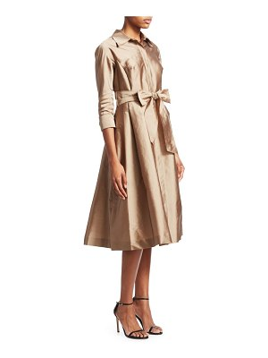 Teri Jon silk taffeta shirtdress