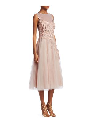 TERI JON Tulle Applique A-Line Dress