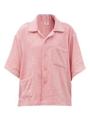 Terry boxy cotton terry-toweling shirt