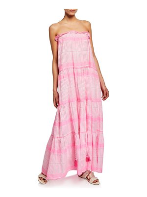 Tessora Luella Embroidered Cotton Maxi Dress