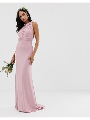 TFNC bridesmaid exclusive multiway maxi dress in pink