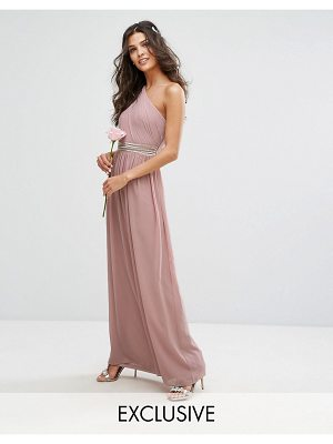 TFNC One Shoulder Embellished Maxi Bridesmaid Dress