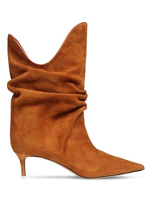 The Attico 50mm suede ankle boots