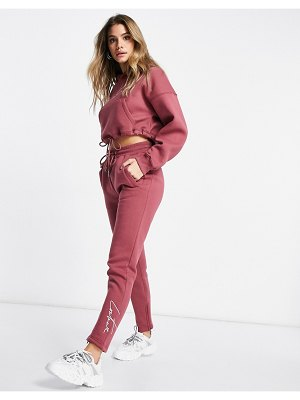 The Couture Club sweatpants in mauve-pink