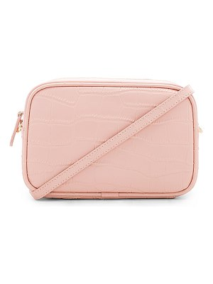 the daily edited Mock Croc Mini Crossbody Bag