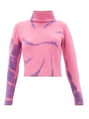 The Elder Statesman highland tie-dyed cropped cashmere sweater