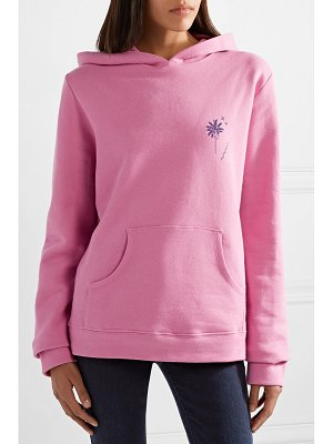 The Elder Statesman printed cotton-fleece hoodie
