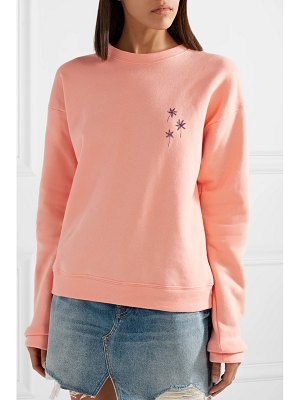 The Elder Statesman printed cotton-fleece sweatshirt