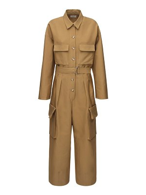 THE FRANKIE SHOP Linda cotton canvas jumpsuit