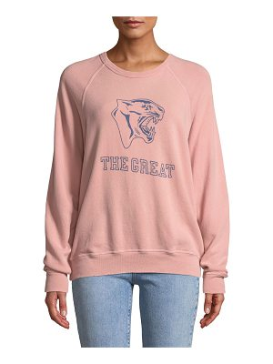 The Great The College Sweatshirt w/ Varsity Graphic