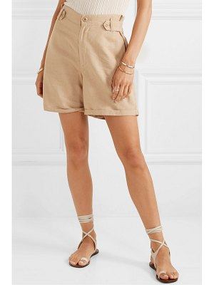 The Great the explorer linen and cotton-blend shorts