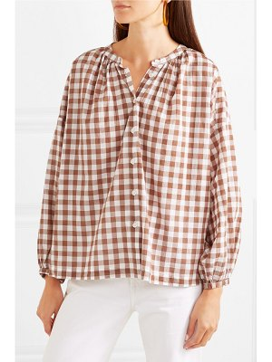The Great the handsome oversized gingham cotton-voile shirt