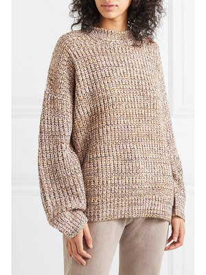 The Great the marled oversized mélange chunky-knit sweater