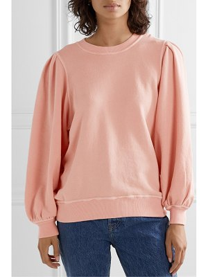 The Great the pleat sleeve cotton-jersey sweatshirt