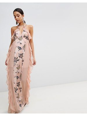 THE JETSET DIARIES floral panel maxi dress