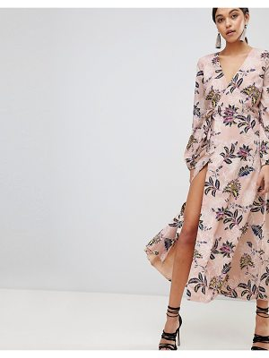 THE JETSET DIARIES Fluid Wrap Midi Dress