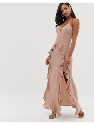 THE JETSET DIARIES light my fire ruffle maxi dress