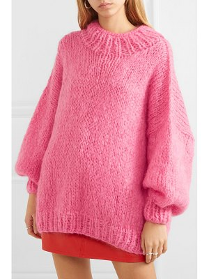 The Knitter the bubblegum mohair-blend sweater