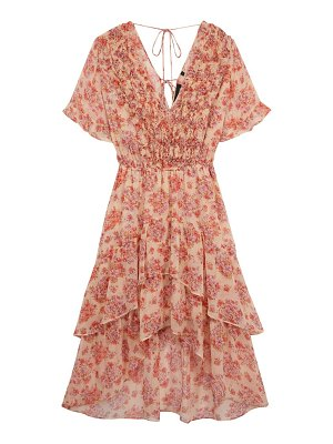 The Kooples ruffle floral midi dress