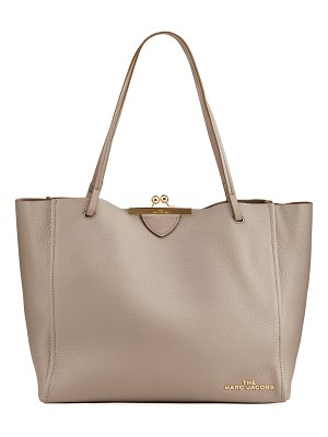 THE MARC JACOBS Kiss-Lock Leather Tote Bag