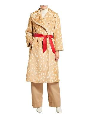 THE MARC JACOBS The Faux Fur Fawn-Print Coat