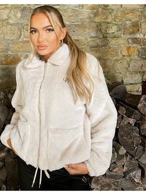 The O Dolls Collection odolls collection faux fur trucker jacket in cream