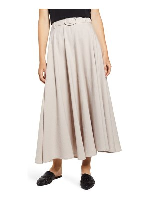 THE ODELLS belted circle maxi skirt