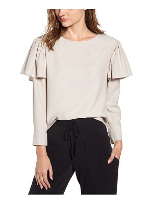THE ODELLS ruffle long sleeve top