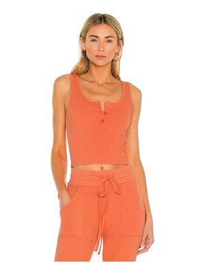 The Range cropped henley tank