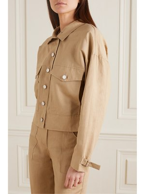 The Range cropped linen and cotton-blend twill jacket