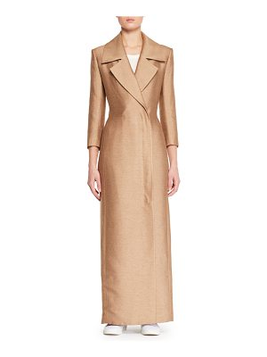 THE ROW Addy Notched-Collar Straight Double-Face Silk Coat