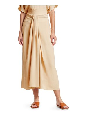 The Row alina tie-waist a-line midi skirt