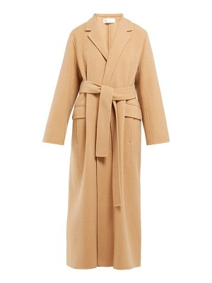The Row amoy single breasted cashmere blend coat