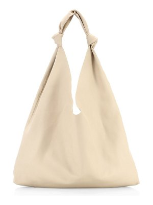 The Row bindle double knot leather hobo bag