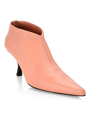 The Row bourgeois leather stretch ankle booties