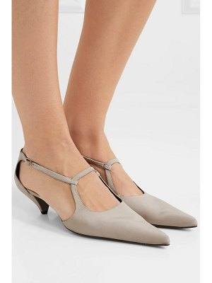 The Row bourgoise salome cutout silk-faille pumps