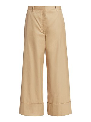 The Row carter wide-leg cotton trousers
