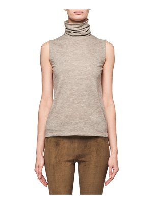 The Row Clovis Cashmere Sleeveless Turtleneck Sweater