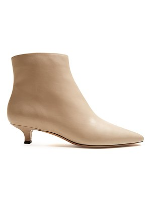 The Row Coco point-toe leather ankle boots