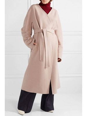 The Row cofra belted cashmere and wool-blend coat