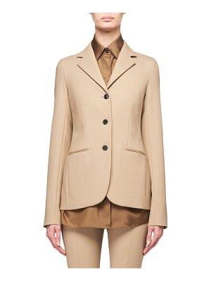 The Row Defina 3-Button Wool Jacket