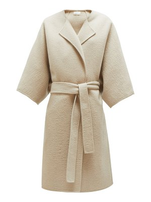 The Row dreeton belted cashmere coat