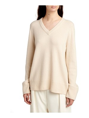 The Row Elaine V-Neck Wool-Cashmere Sweater