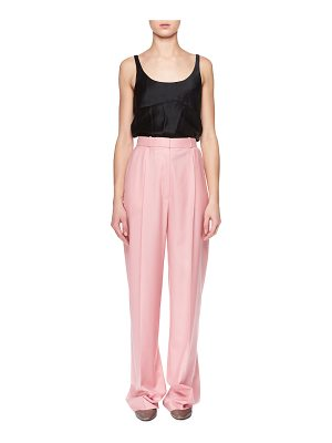 The Row Elin High-Waist Wide-Leg Wool Pants