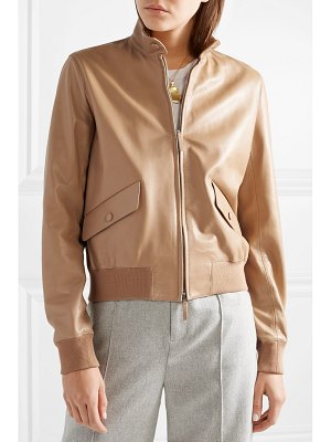 The Row erhly leather bomber jacket