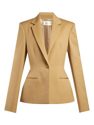 The Row Francene Single Breasted Stretch Wool Blazer