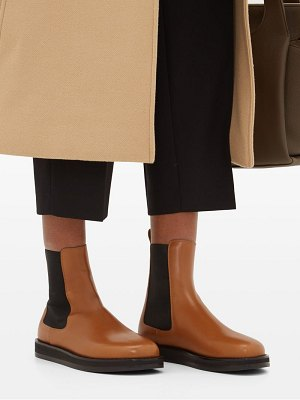 The Row gaia leather chelsea boots