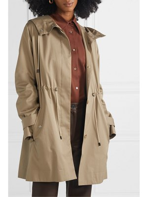 The Row haze hooded cotton-gabardine coat