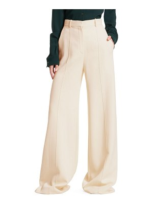 The Row isla wide-leg pintuck pants