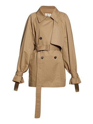 The Row keera belted cotton twill trench coat